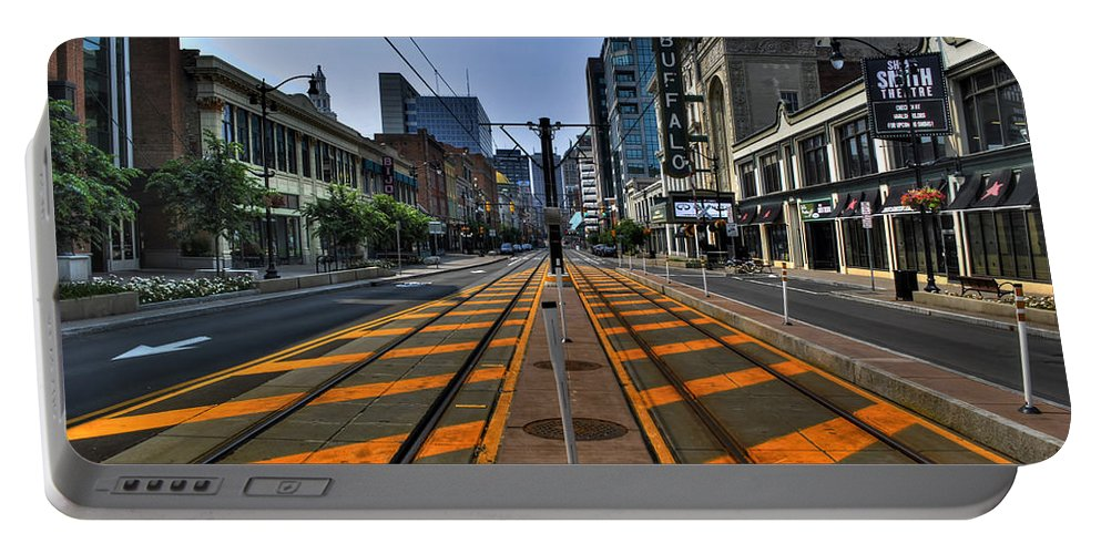 Buffalo Portable Battery Charger featuring the photograph 02 New Main St 2015 by Michael Frank Jr