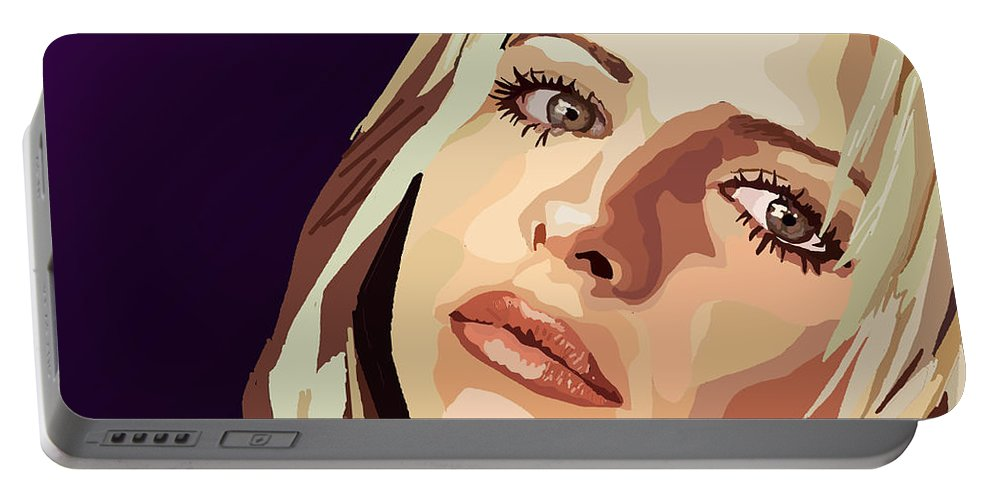 Tamify Portable Battery Charger featuring the digital art 093. I'm A Slayer Ask Me How by Tam Hazlewood