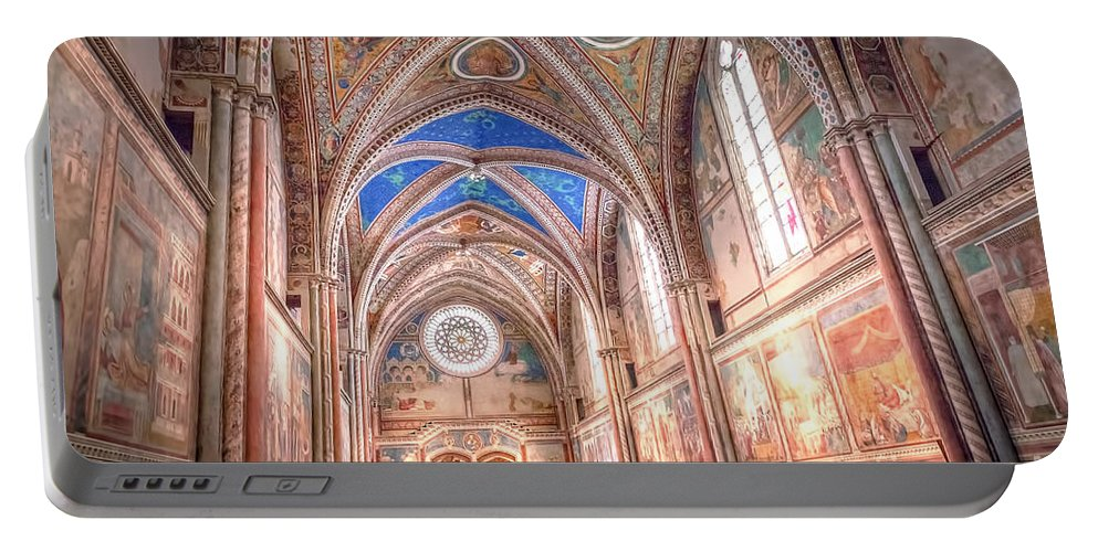 Assisi Portable Battery Charger featuring the photograph 0957 Basilica Of Saint Francis Of Assisi by Steve Sturgill