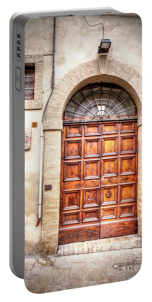 Assisi Portable Battery Charger featuring the photograph 0959 Assisi Italy by Steve Sturgill