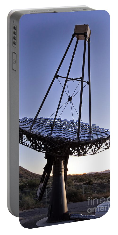 Gamma-ray Portable Battery Charger featuring the photograph 12m Gamma-ray Reflector Telescope by Inga Spence