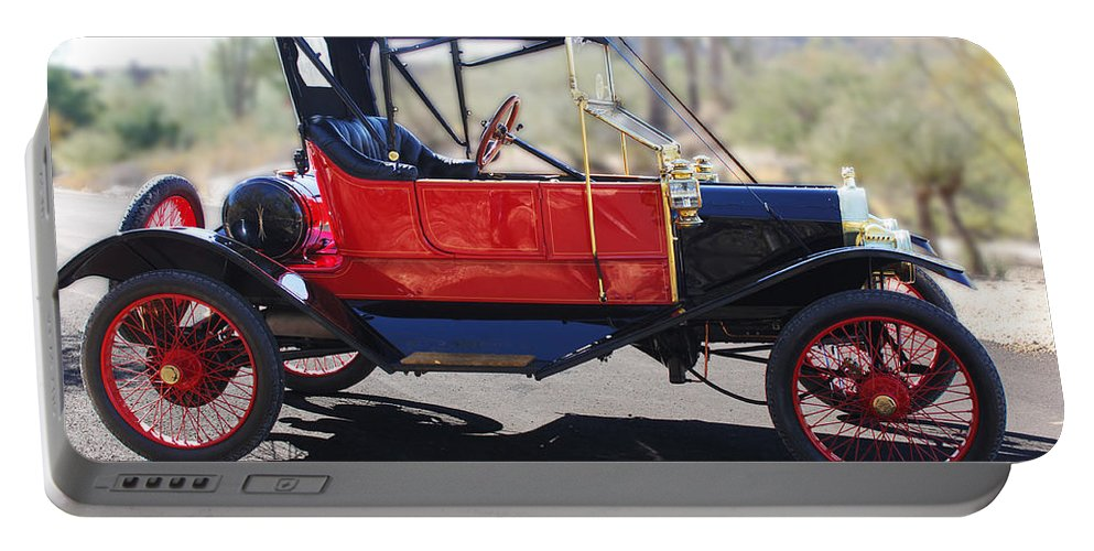 Horseless Carriage Portable Battery Charger featuring the photograph 1911 Ford Model T Torpedo by Jill Reger