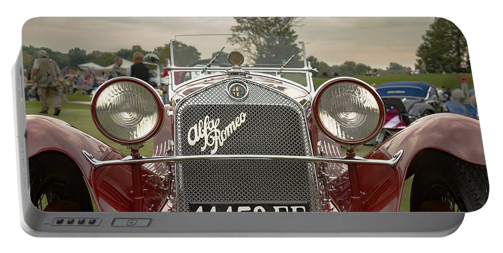 Antique Portable Battery Charger featuring the photograph 1931 Alfa Romeo by Jack R Perry