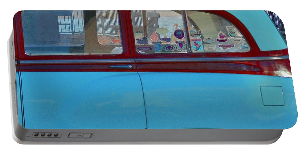 1954 Pontiac Chieftain Station Wagon Portable Battery Charger featuring the photograph 1954 Pontiac Chieftain Station Wagon by Bill Owen