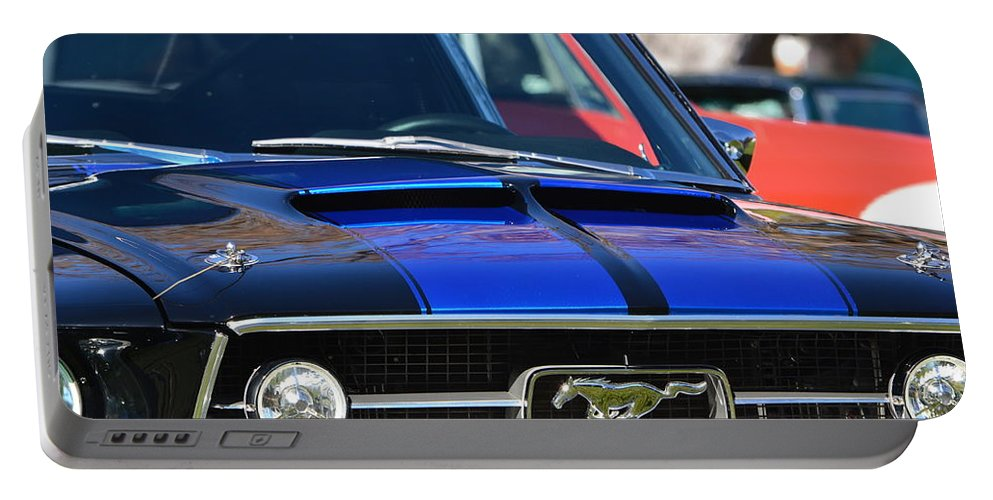 Portable Battery Charger featuring the photograph 1967 Mustang Fastback by Dean Ferreira