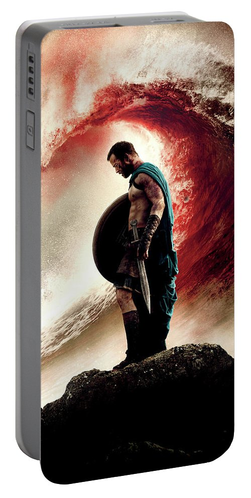 300 Rise Of An Empire 2014 Portable Battery Charger featuring the digital art 300 Rise Of An Empire 2014 by Geek N Rock