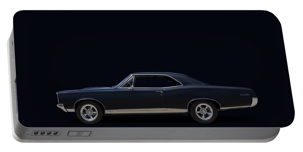 Transportation Portable Battery Charger featuring the digital art 67 Gto by Douglas Pittman