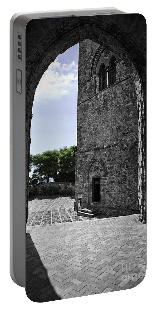 Arch Portable Battery Charger featuring the photograph A Gothic View by Madeline Ellis