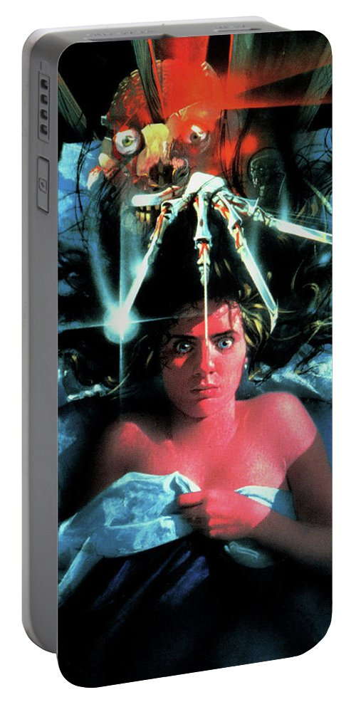 A Nightmare On Elm Street 1984 Portable Battery Charger featuring the digital art A Nightmare On Elm Street 1984 by Geek N Rock