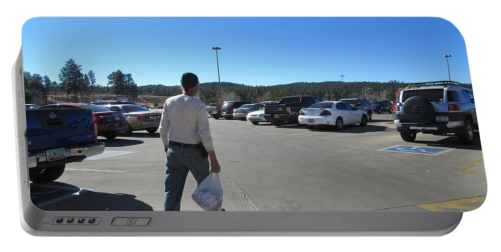 A Portable Battery Charger featuring the photograph A Parking Area by Frederick Holiday