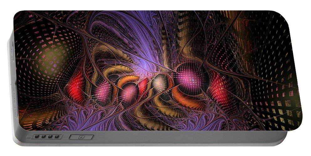 Graffiti Portable Battery Charger featuring the digital art A Student Of Time by NirvanaBlues