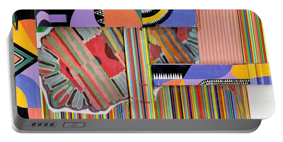 Abstract Art Portable Battery Charger featuring the drawing Abstract Collage by Paul Meinerth