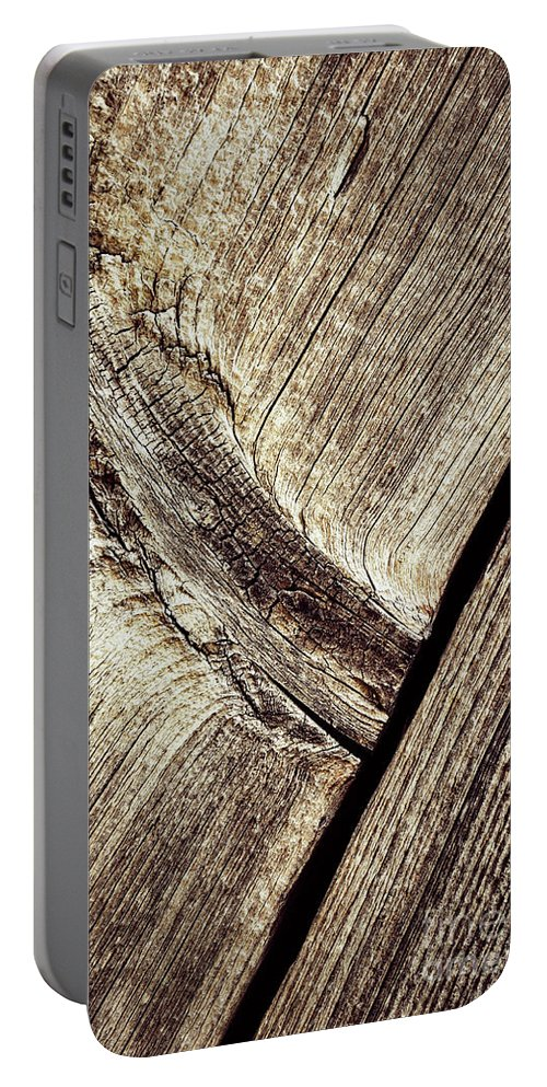 Old Portable Battery Charger featuring the photograph Abstract Detail Of A Wooden Old Board by Jozef Jankola