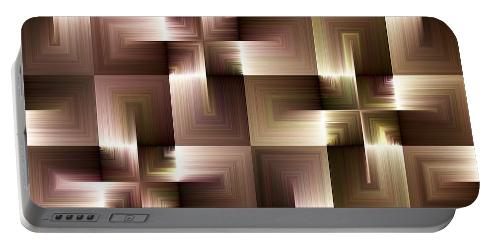 Abstract Portable Battery Charger featuring the digital art Abstract by Svetlana Sewell