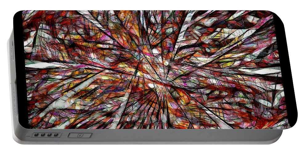 Abstraction Portable Battery Charger featuring the digital art Abstraction 3101 by Marek Lutek