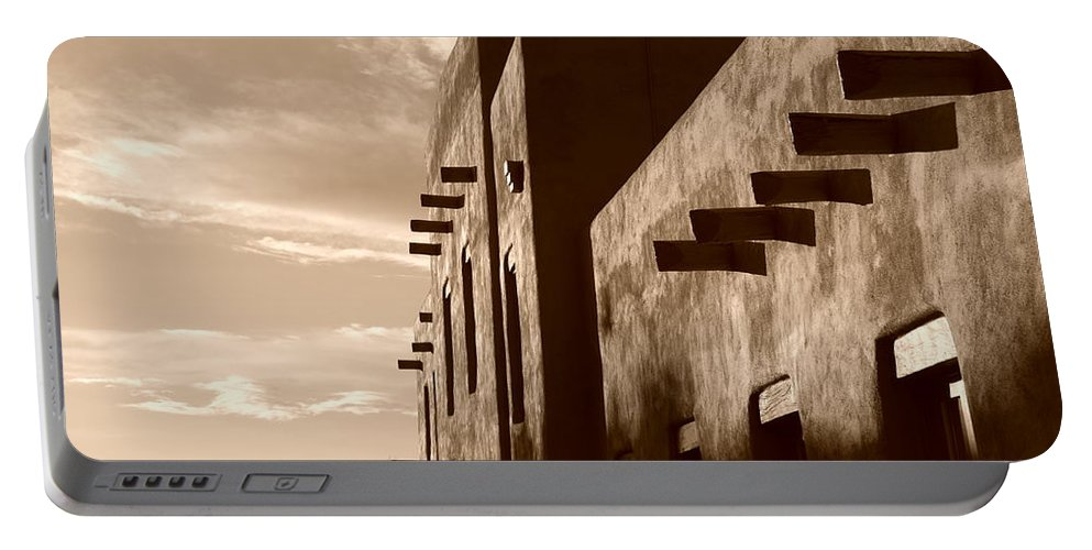 Architecture Portable Battery Charger featuring the photograph Adobe Sunset by Rob Hans