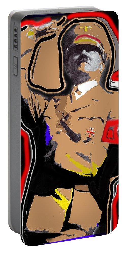 Adolf Hitler Saluting 2 Circa 1933-2013 Portable Battery Charger featuring the photograph Adolf Hitler Saluting 2 Circa 1933-2013 by David Lee Guss