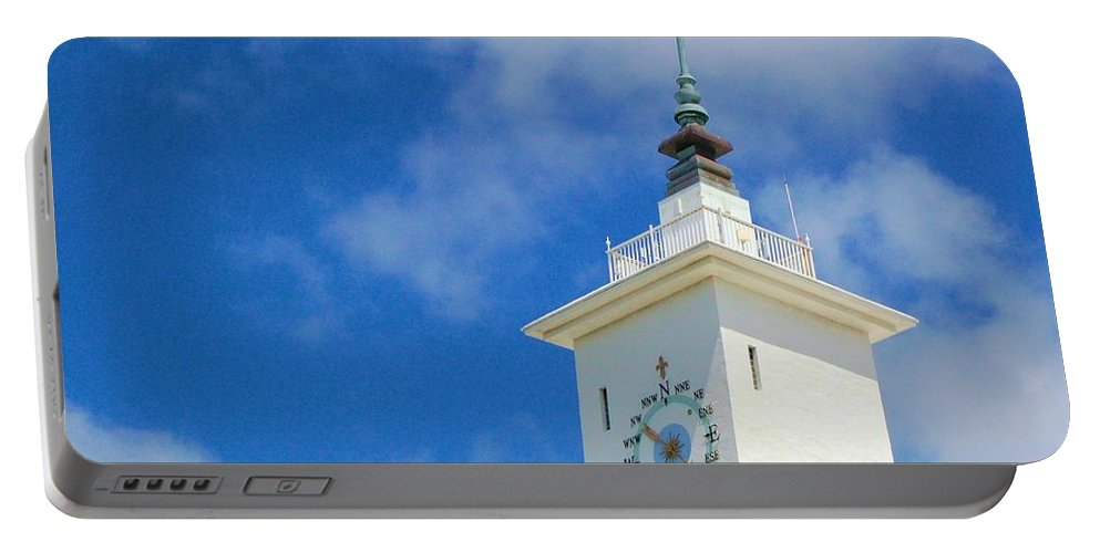 Clock Portable Battery Charger featuring the photograph All Along The Watchtower by Debbi Granruth