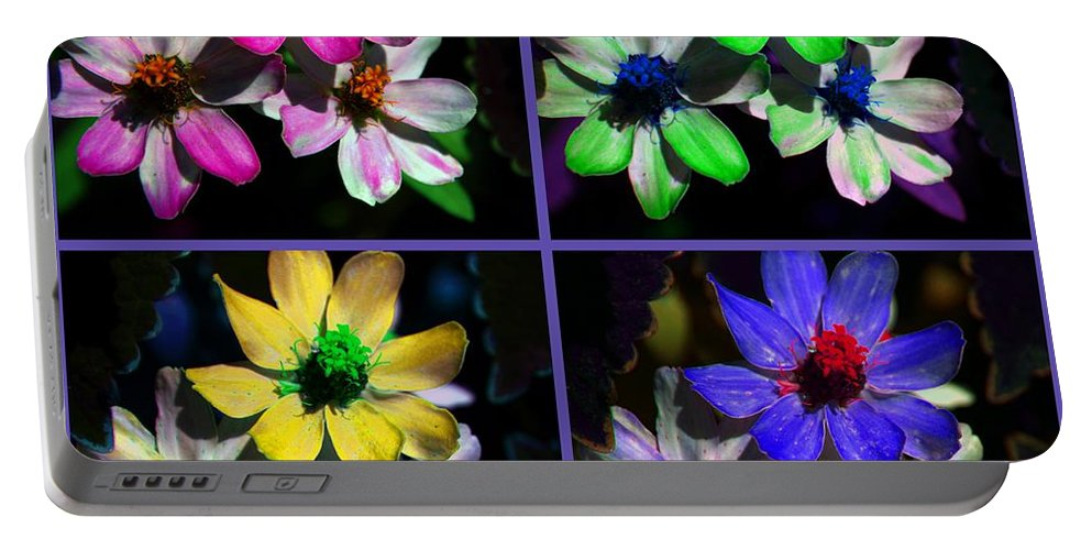 Flower Portable Battery Charger featuring the photograph All For One by Susanne Van Hulst