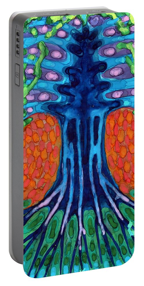 Colour Portable Battery Charger featuring the painting Always Young by Wojtek Kowalski
