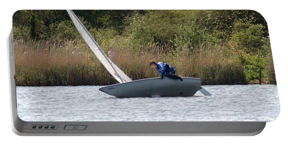Dinghy Portable Battery Charger featuring the photograph An Afternoons Sailing by Chris Day