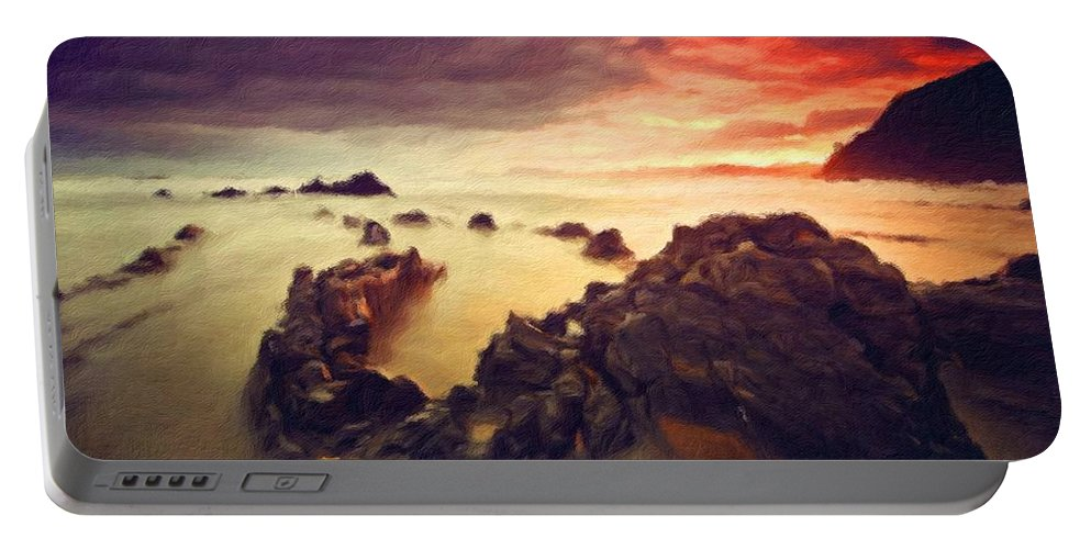 Landscape Portable Battery Charger featuring the digital art Art Of Landscape by Malinda Spaulding