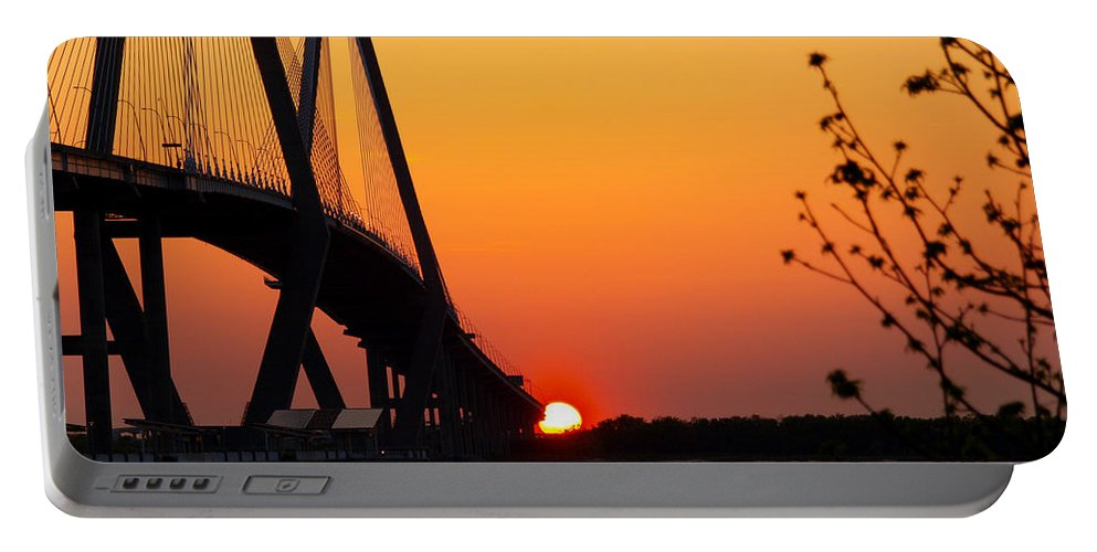 Ann Keisling Portable Battery Charger featuring the photograph At The End Of The Bridge by Ann Keisling