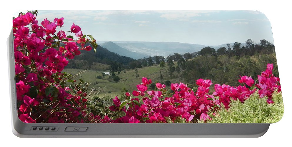 Australia Portable Battery Charger featuring the photograph Australia - Red Bougainvillea by Jeffrey Shaw