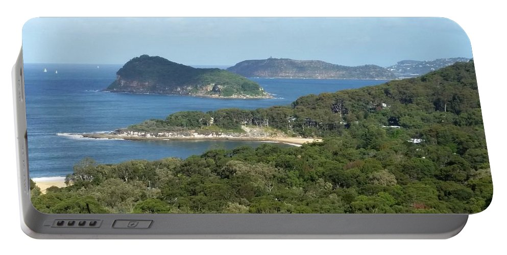 Australia Portable Battery Charger featuring the photograph Australia - Broken Bay's Lion Island by Jeffrey Shaw