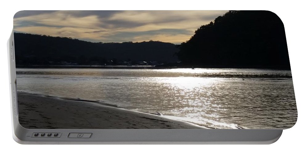Australia Portable Battery Charger featuring the photograph Australia - Sun Glistens On Umina Beach by Jeffrey Shaw
