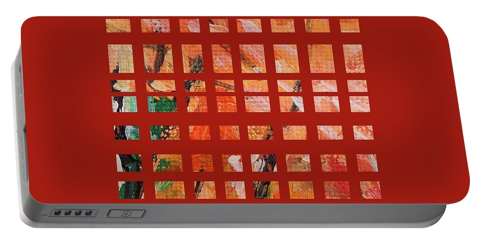 Autumn Portable Battery Charger featuring the painting Autumn Abstract by Eric Schiabor