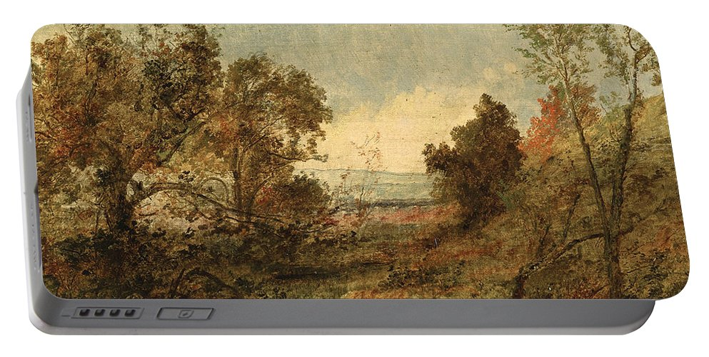 Jasper Francis Cropsey Portable Battery Charger featuring the painting Autumn Landscape by Jasper Francis Cropsey