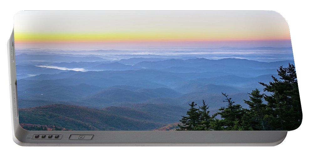 Landscape Portable Battery Charger featuring the photograph Autumn Sunrise by Susan Murphy