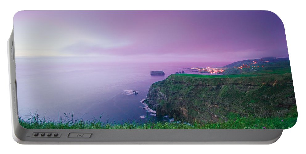Azoren Portable Battery Charger featuring the photograph Azores coastal landscape by Gaspar Avila