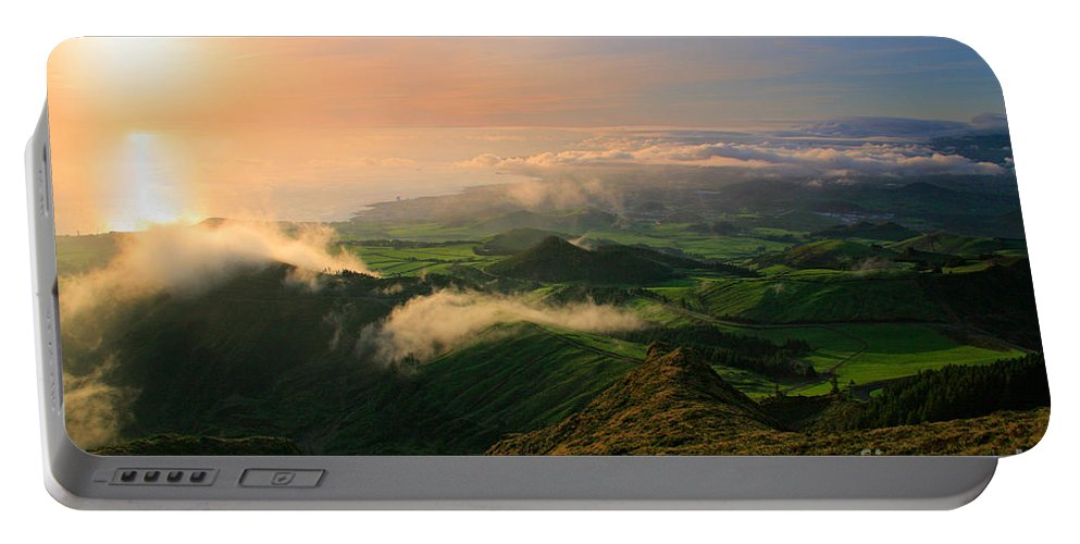 Coast Portable Battery Charger featuring the photograph Azores Islands Landscape by Gaspar Avila