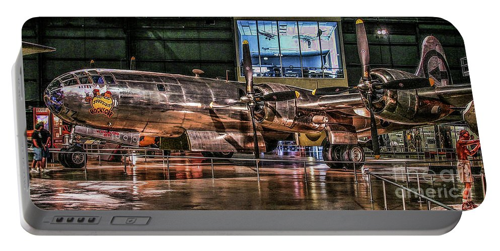 Usaf Museum Portable Battery Charger featuring the photograph B-29 Bockscar by Tommy Anderson
