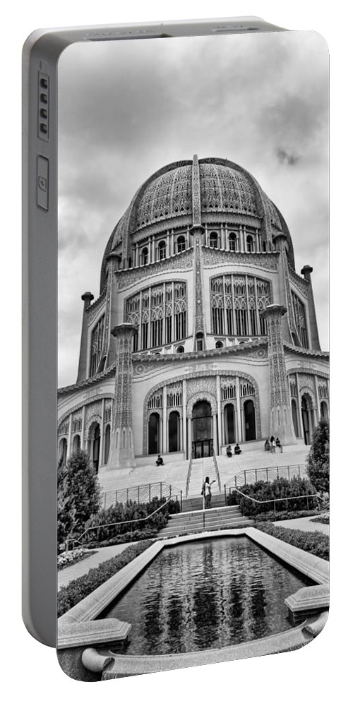 Religion Portable Battery Charger featuring the photograph Baha'i House Of Worship by Timothy Ruf