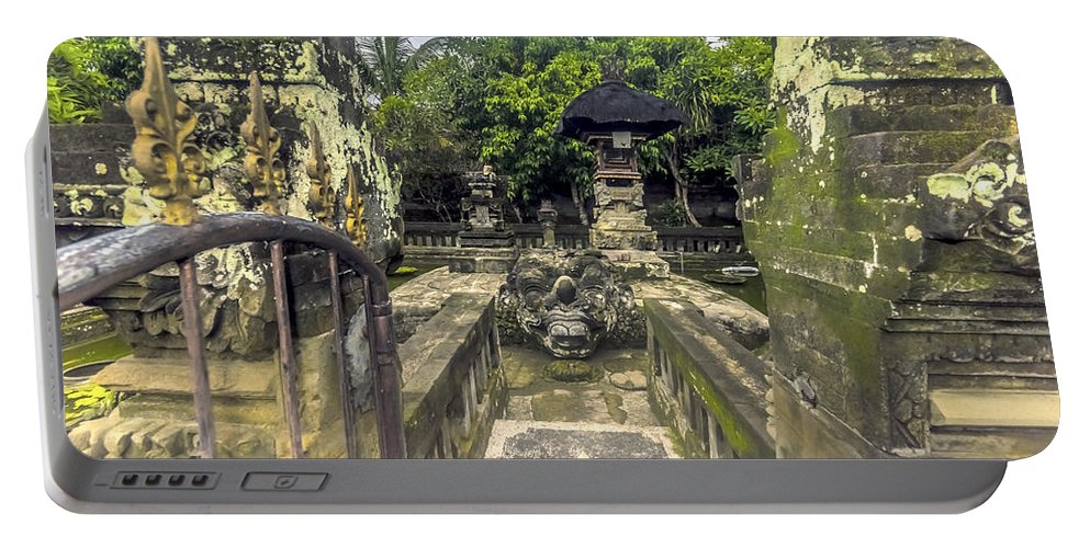 Architecture Portable Battery Charger featuring the photograph Bali Temple by Jijo George