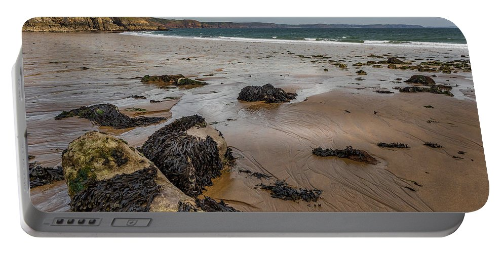 Barafundle Portable Battery Charger featuring the photograph Barafundle Bay by Mark Llewellyn