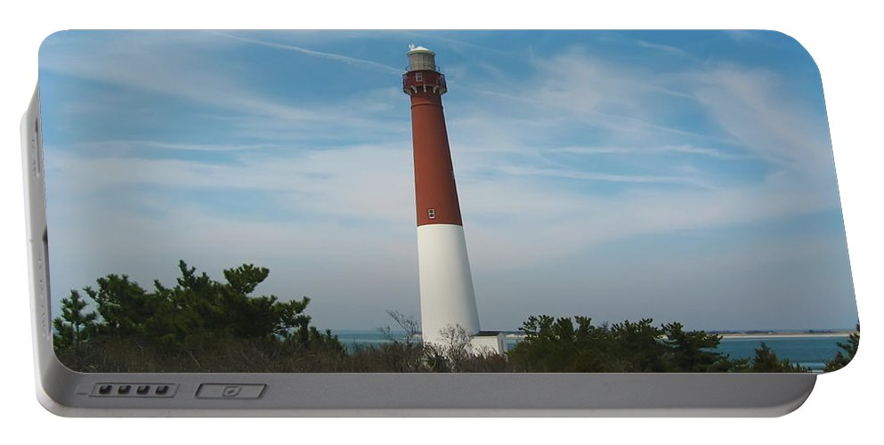 Barnegat Portable Battery Charger featuring the photograph Barnegat Lighthouse - New Jersey by Bill Cannon