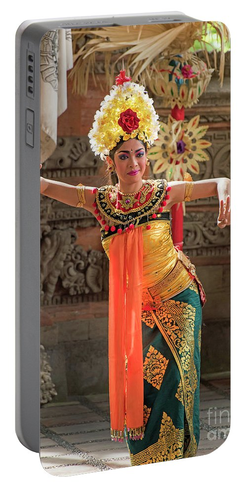 Pura Portable Battery Charger featuring the photograph Barong Dancer by Jim Chamberlain