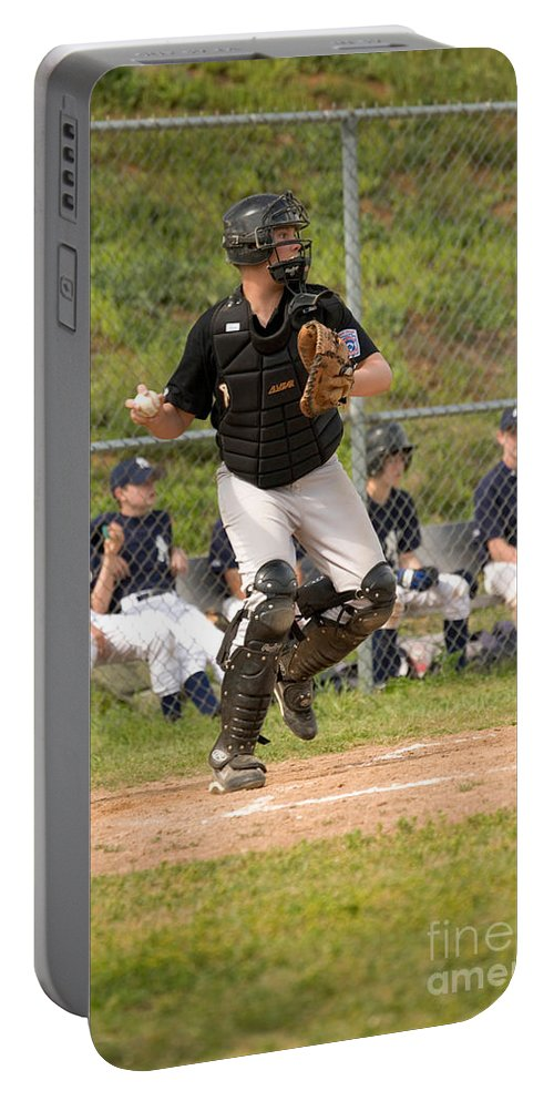 Baseball Portable Battery Charger featuring the photograph Baseball by Inga Spence