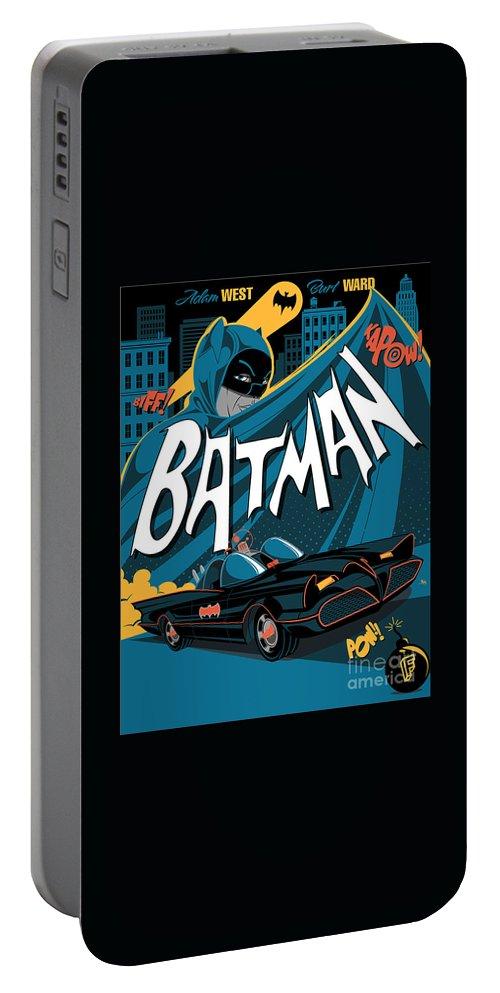 Batman Art Portable Battery Charger featuring the digital art Batman Art by Hannah Dori