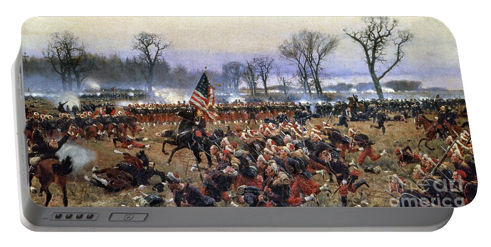 1862 Portable Battery Charger featuring the painting Battle Of Fredericksburg - To License For Professional Use Visit Granger.com by Granger