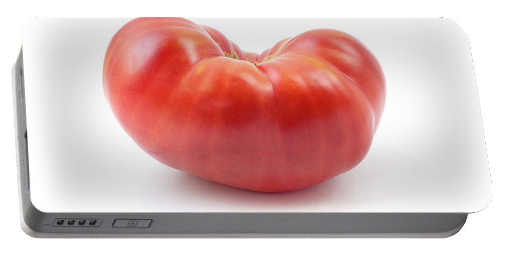 Beef Tomato Portable Battery Charger featuring the photograph Beefsteak Tomato by Fabrizio Troiani