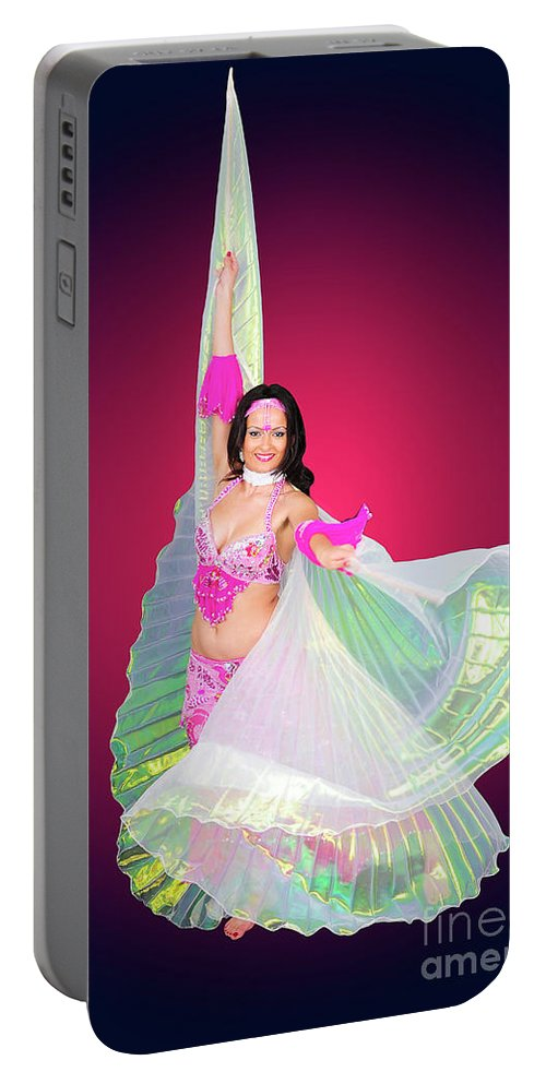 Art Portable Battery Charger featuring the photograph Belly Dancer by Ilan Rosen