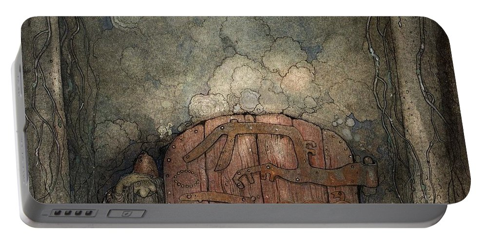 John Bauer Portable Battery Charger featuring the painting Bergaporten by John Bauer