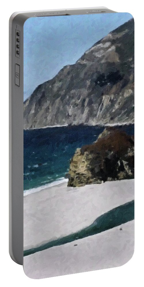Big Portable Battery Charger featuring the digital art Big Sur California by Teresa Mucha