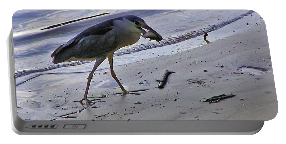 2d Portable Battery Charger featuring the photograph Black Crowned Night Heron by Brian Wallace