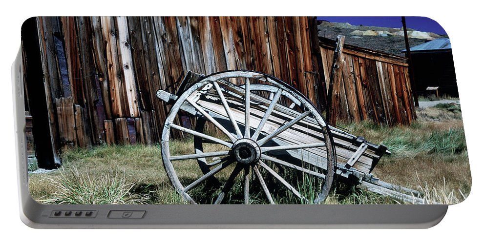 Bodie Portable Battery Charger featuring the photograph Bodie Wagon by Jim And Emily Bush